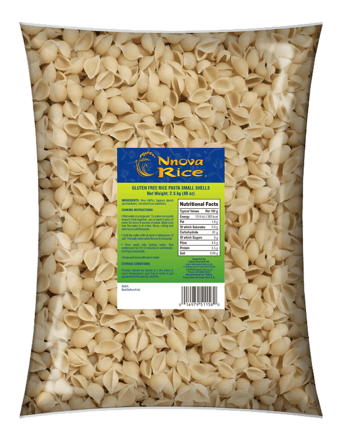 Gluten Free Small Shells - 2.5Kg - www-latinogourmet-co-uk