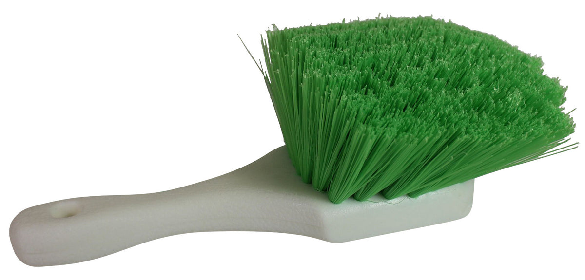 Green Short Handle Brush Medium Soft