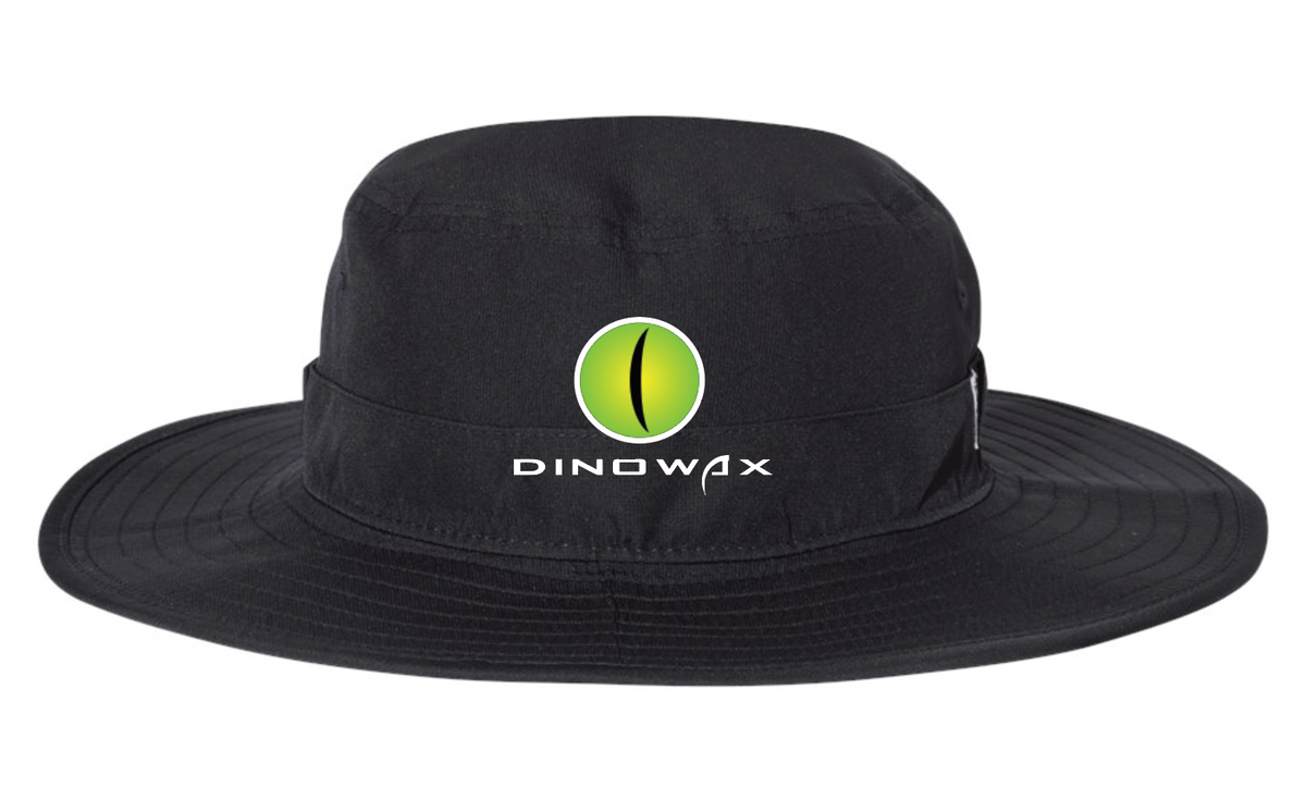 Dinowax Embroidered Wide Brim Bucket Hat