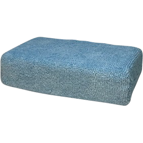 "Microfiber ""Brick"" Applicator- Blu 4"" x 6"""