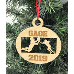 Personalized Engraved Football Christmas Ornament