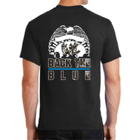 Shop With A Cop Back The Blue PC55 Port & Company® - Core Blend Tee