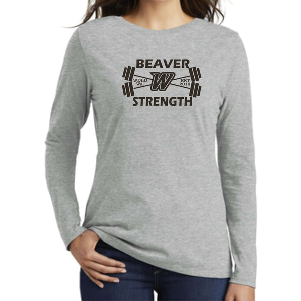 Beaver Strength Nike Ladies Core Cotton Long Sleeve Tee