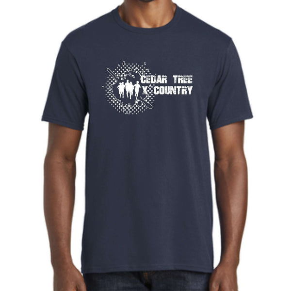 "Cedar Tree Cross Country 'Distressed"" District Concert Tee DT5000"
