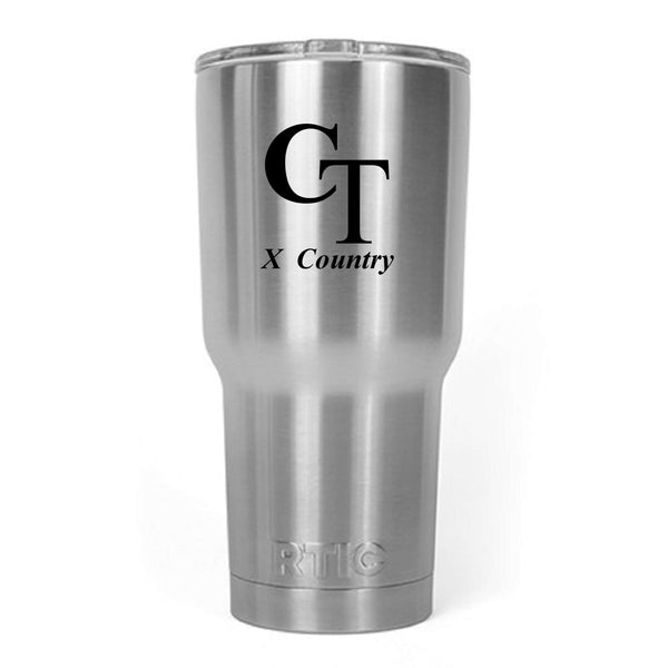 Cedar Tree Cross Country 30 Oz RTIC Laser Engraved Tumbler