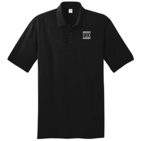 Flex Academy Embroidered Logo KP55 Port & Company® Core Blend Jersey Knit Polo