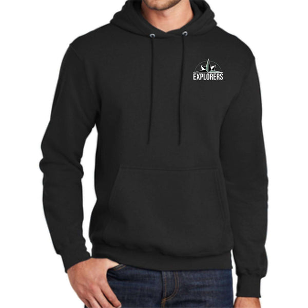 Vancouver Flex Academy Explorers Pocket Print PC78H Port & Company® - Core Fleece Pullover Hooded Sweatshirt