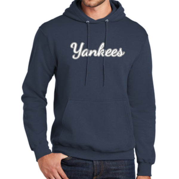 Yankees Adult PC78H Port & Company® Core Fleece Pullover Hooded Sweatshirt