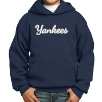 Yankees *YOUTH SIZED* PC90YH Port & Company® Youth Core Fleece Pullover Hooded Sweatshirt