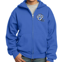 La Center Elementary PC90YZH Port & Company® - Youth Core Fleece Full-Zip Hooded Sweatshirt