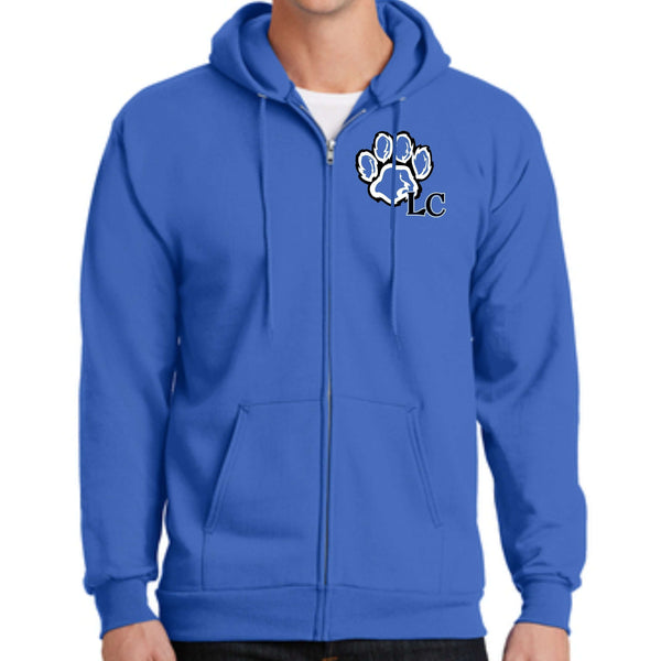 La Center Elementary PC90ZH Port & Company® - Essential Fleece Full-Zip Hooded Sweatshirt
