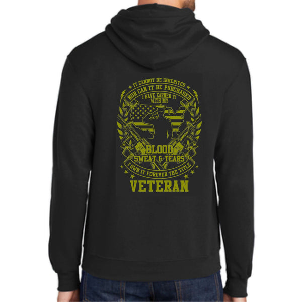 "Shop With A Cop ""Veteran"" PC78H Port & Company® - Core Fleece Pullover Hooded Sweatshirt"
