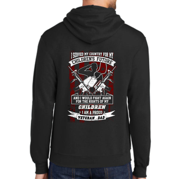 "Shop With A Cop ""Veteran Dad"" PC78H Port & Company® - Core Fleece Pullover Hooded Sweatshirt"