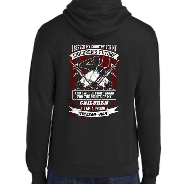 "Shop With A Cop ""Veteran Mom"" PC78H Port & Company® - Core Fleece Pullover Hooded Sweatshirt"