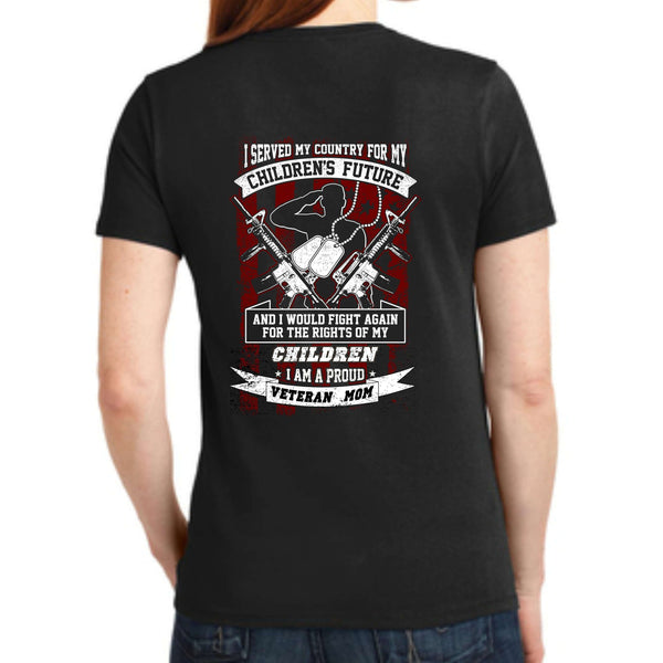 "Shop With A Cop ""Veteran Mom"" LPC55 Port & Company® Ladies Core Blend Tee"