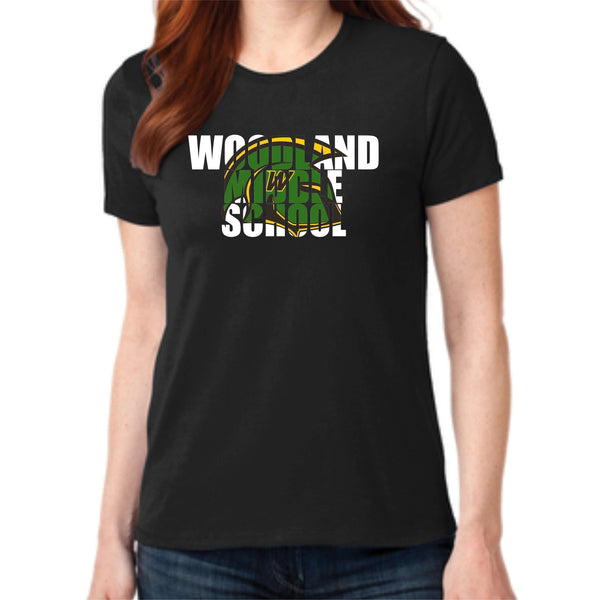 Woodland Middle School Trojans Helmet LPC55 Port & Company® Ladies Core Blend Tee