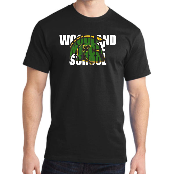 Woodland Middle School Trojans Helmet PC150 Port & Company® - Ring Spun Cotton Tee