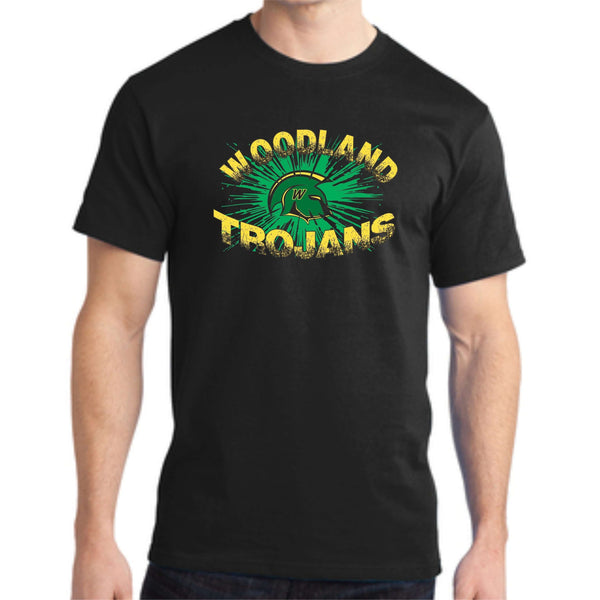 Woodland Middle School Trojan Burst PC150 Port & Company® - Ring Spun Cotton Tee