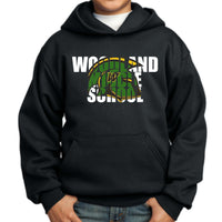 Woodland Middle School Trojans Helmet PC90YH Port & Company® - Youth Core Fleece Pullover Hooded Sweatshirt