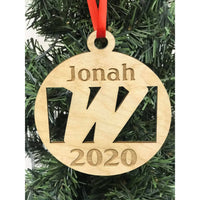 "Woodland ""W"" Personalized Ornament"