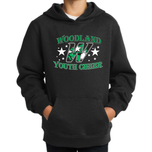 Woodland Youth Cheer Stars YST254 *YOUTH SIZE* Sport-Tek® Youth Pullover Hooded Sweatshirt
