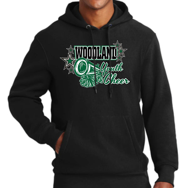 Woodland Youth Cheer Megaphone F281 Sport-Tek® Super Heavyweight Pullover Hooded Sweatshirt