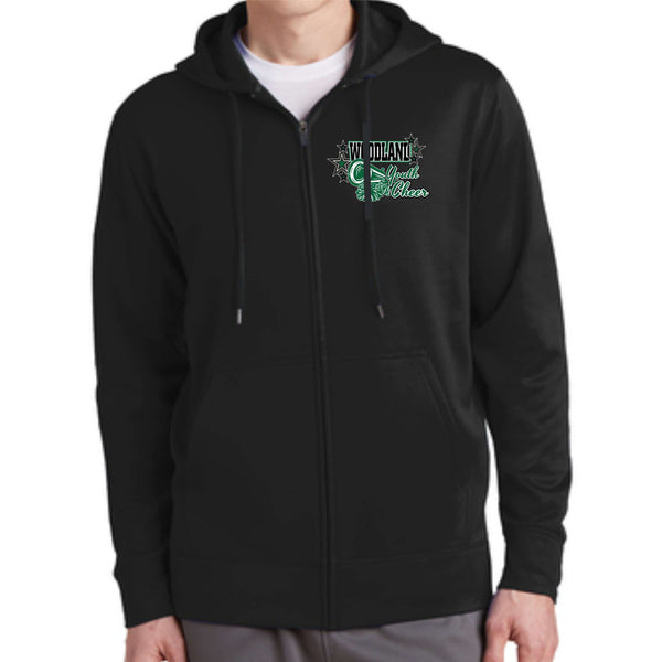 Woodland Youth Cheer Megaphone ST238 Sport-Tek® Sport-Wick® Fleece Full-Zip Hooded Jacket
