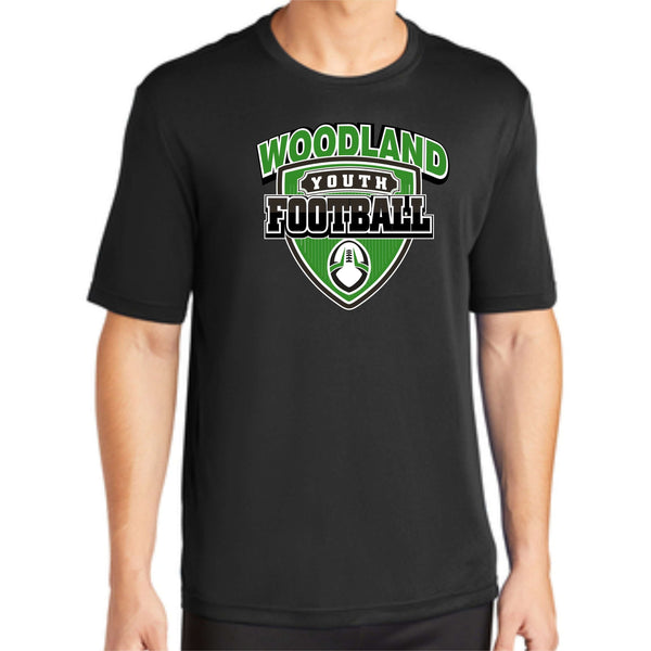 Woodland Youth Football Shield ST350 Sport-Tek® PosiCharge® Competitor™ Tee
