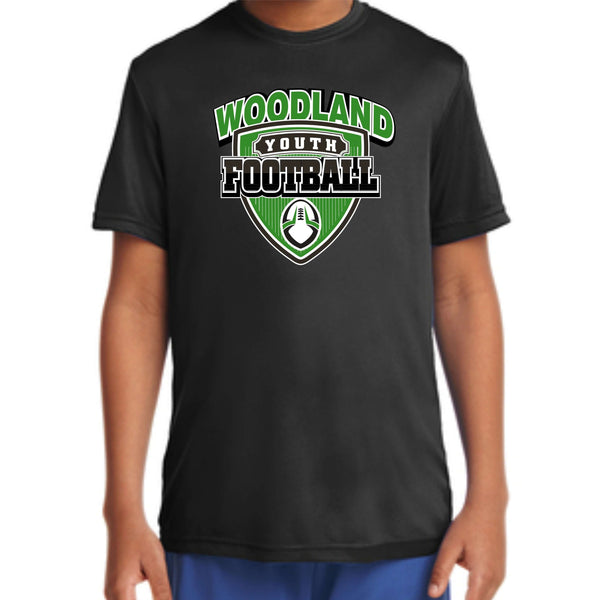 Woodland Youth Football Shield YST350 *YOUTH SIZE* Sport-Tek® Youth PosiCharge® Competitor™ Tee