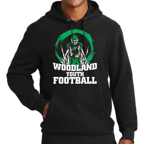 Woodland Youth Football Player F281 Sport-Tek® Super Heavyweight Pullover Hooded Sweatshirt