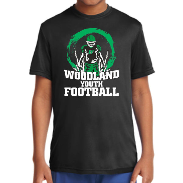Woodland Youth Football Player *YOUTH SIZE* YST350 Sport-Tek® Youth PosiCharge® Competitor™ Tee