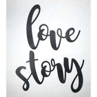 A true love story never ends wall display wooden cutout