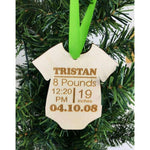 Babys First Christmas Engraved Ornament