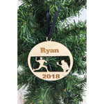 Baseball Personalized Wooden Ornament