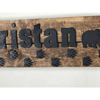 Bear Nursery Name Sign Personalized