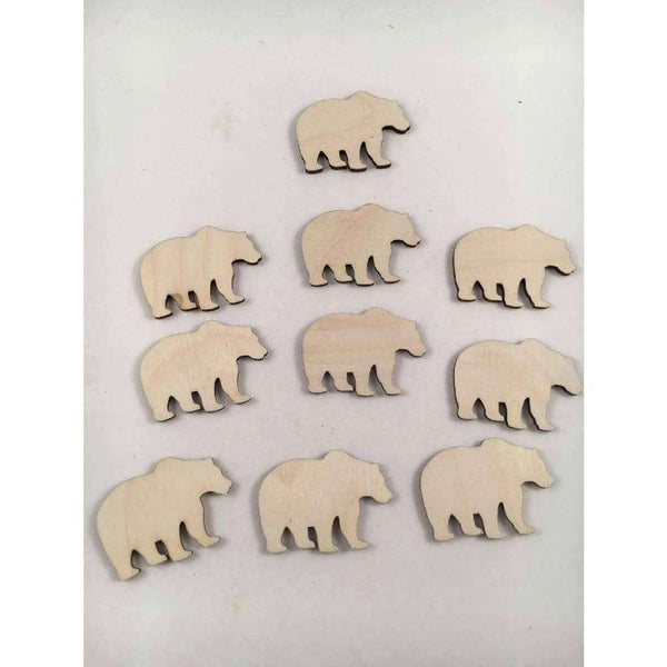 Bear Wooden Cutouts choose your size