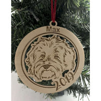 Bichon Dog Personalized Engraved Ornament