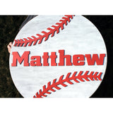 Baseball Nursery Name Sign