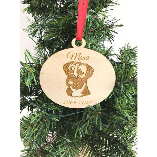 Boxer dog ornaments Christmas