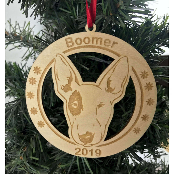 Bull Terrier Personalized Engraved Ornament