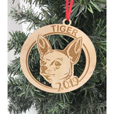 Chihuahua Dog Ornament Personalized with Year