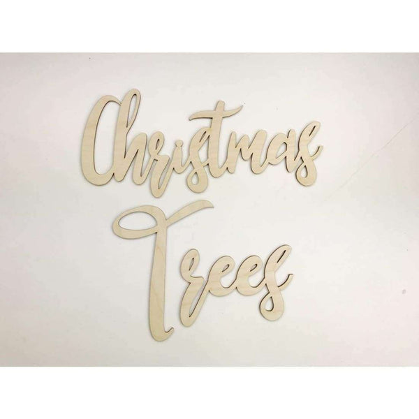 Christmas Tree Wood Word Cutout