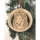 Collie Dog Engraved Ornament
