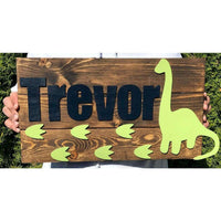 Dinosaur Nursery Boys Name Sign