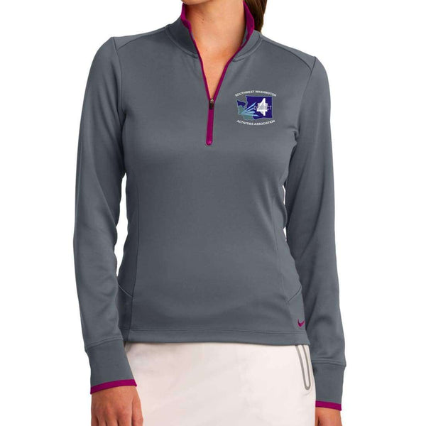 District 4 Nike Ladies Dri-FIT 1/2-Zip Cover-Up