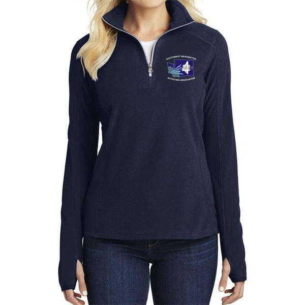 District 4 Port Authority Ladies Microfleece 1/2-Zip Pullover