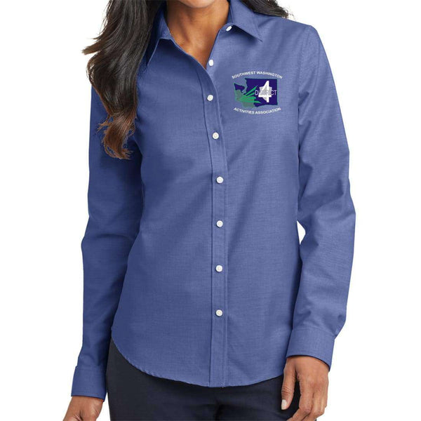 District 4 Port Authority Ladies SuperPro Oxford Shirt