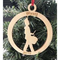 Marching Band Drummer Engraved Ornament