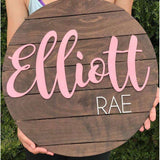 Etsy Nursery sign mock up generator for Pallet Style signs
