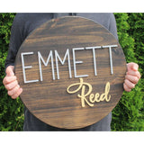 Custom Nursery Name sign with Free Shipping